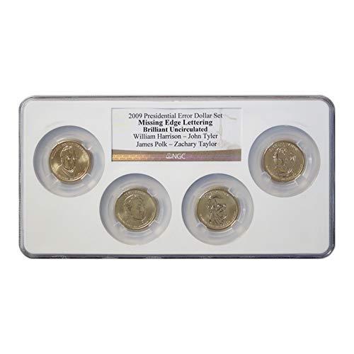 (2009 Presidential Error Dollar 4-Coin Set Brilliant Uncirculated)
