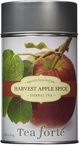 Tea Forte HARVEST APPLE SPICE Loose Leaf Herbal Tea, 3.88 Ounce Tea Tin