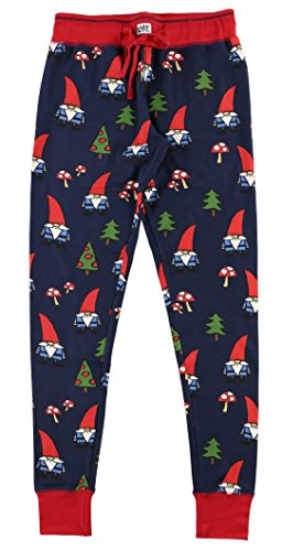 No Place Like Gnome Women's Legging Womens Pajama Leggings Bottom by LazyOne | Pajama Bottom for Women (X-Large)
