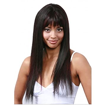 BOBBI BOSS Human Hair Wig MH 1165 - Color #1 - Jet Black