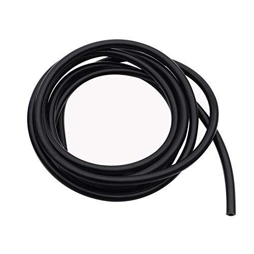 "High Performance Silicone Vacuum Tubing Hose, ID 0.12"" (3mm), OD 0.27"" (7mm), 10 Feet per roll (3 Meter), Black 60 psi Maximum Pressure"