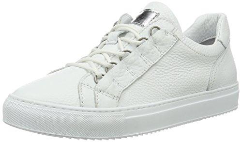 Mjus Herren 360108-0101 Low-Top Weiß (Bianco+bianco+bianco+argento)
