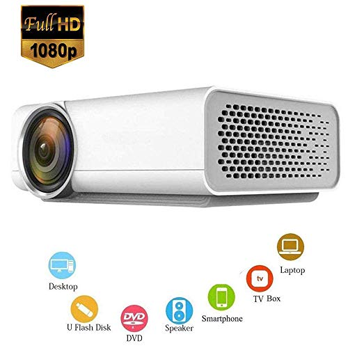 Mengen88 HD LED Video Projektor, Support 1800 Lumens 1080P Portable Video DLP Home Cinema Pocket Projector eingebaute…