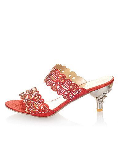 ... ShangYi Womens Shoes Kitten Heel Open Toe Sandals/Slippers More Colors  available golden ...
