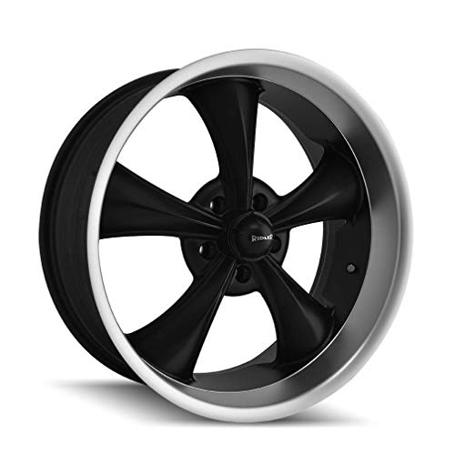 Ridler 695 (695) Matte Black/MACHINED Lip: 20x8.5 Wheel Size; 5-127 Lug Pattern, 83.82mm Bore, 0mm Offset.