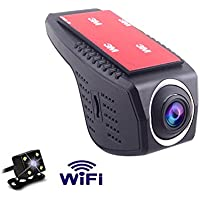 KuLio Full HD 1080P Dash Cam Front and Rear Dual Camera, 170 Degrees Wide Angle Lens, Dash Cameras for Cars with Night Vision, Dashboard Camera Car Driving Recorder DVR