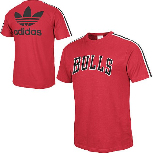 Chicago Bulls Court Series - adidas Chicago Bulls Red Court Series Constructed Tee (XX-Large)