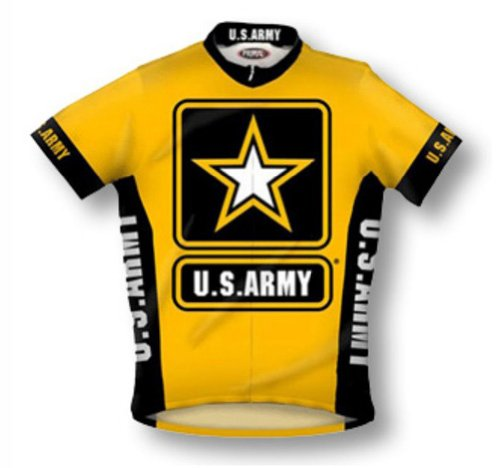 Primal Wear U.S. Army Cycling Jersey Men's XXL Short Sleeve USA Military