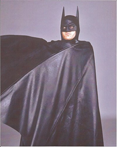 Batman Michael Keaton wrapped in cape - 8 x 10 Costume Test Photo 004 (Michelle Pfeiffer Catwoman Costume)