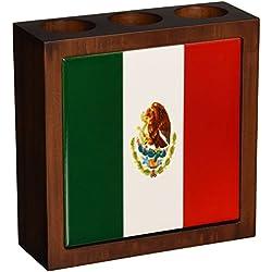 3dRose PH _ _ _ _ _ _ _ _ _ _ 4564_ _ _ _ _ _ _ _ _ _ 1mexicano Bandera Tile Soporte para bolígrafo, 12,7cm)