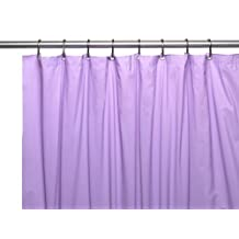 """Carnation Home Fashions Hotel Collection 8-Gauge Vinyl Shower Curtain Liner with Weighted Magnets and Metal Grommets, Lilac 72"""" x 72"""""""