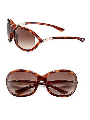 Tom Ford Jennifer FT0008 Sunglasses-52F Tortoise (Brown Gradient - Tom Brown Jennifer Ford Sunglasses