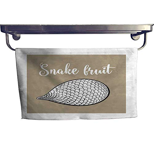 (Sports Ttowel Whole unpeeled Uncut Tropical Salak Snake Fruit in Horizontal Position Towel W 8