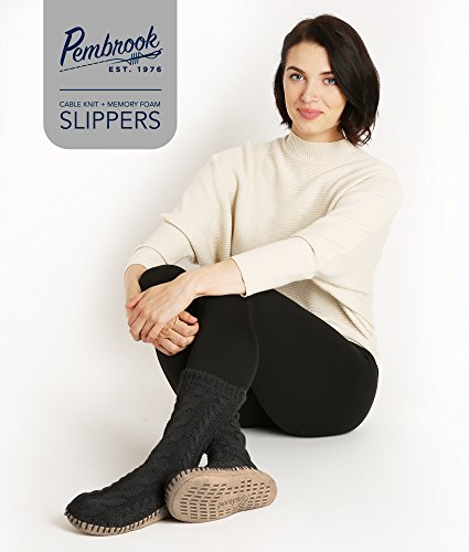 Pembrook Ladies Tall Cable Knit Slipper Socks Zr5IrAY
