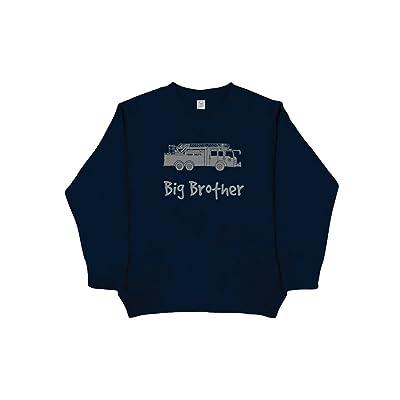 Sunshine Mountain Tees Boys Firetruck Big Brother Sweatshirt