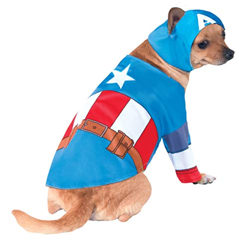 Captain America Pet Costume (Rubie's Marvel Universe Captain America Pet Costume,)