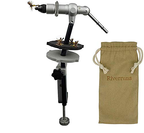 Aventik Quality Aluminum Fly Tying Vise Fly Tying Tools with One Jaw Fitting #22 to #3/0 Hooks