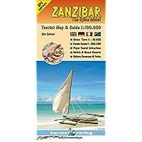 Zanzibar: Touristikkarte. 1:100000: Harms.6