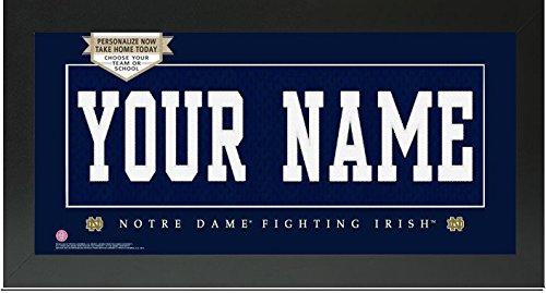 - Notre Dame Fighting Irish NCAA Custom Jersey Nameplate Framed Sign