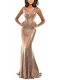 Rongstore Black prom dress with Sequins AZ003