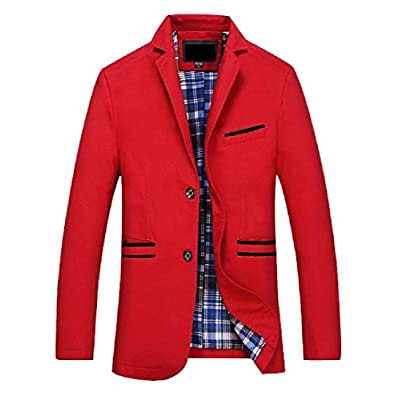 Abetteric Men Oversized 2 Button Spell Color Turn Down Collar Suit Coats for sale