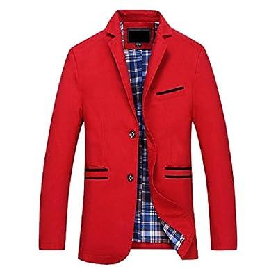 Abetteric Men Oversized 2 Button Spell Color Turn Down Collar Suit Coats for sale pduwKz4h