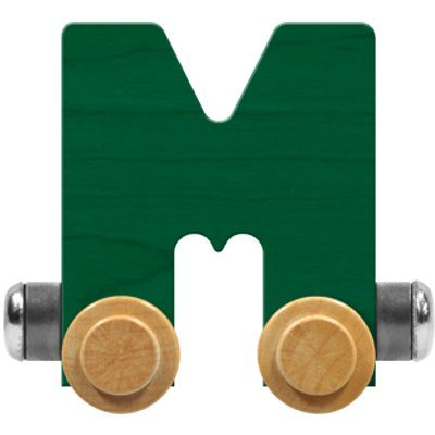 Maple Landmark NameTrain Bright Letter Car M - Made in USA (Green): Toys & Games