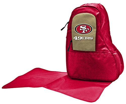 NFL San Francisco 49ers Diaper Sling Bag, 17 x 13 x 7-Inch, Red by Wild Sports
