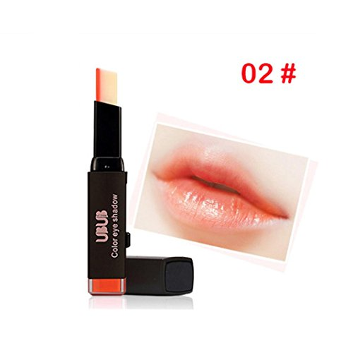 Women Two-Tone Tint Lip Bar, Lotus.flower Waterproof Long Lasting Lipstick High Colority Lip Gloss Sexy Gradient Lip Makeup - Special Gift for Valentine (Venetian Pure Lipstick)