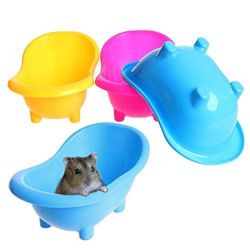 (Kocome 1Pc Mini Hamster Gerbils Bathtub Small Pets Bath Sand Room Bathroom Bathing Case)