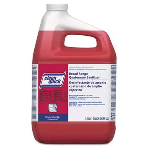 Clean Quick Clean Quick Broad Range Quaternary Sanitizer w/Test Strips, Sweet Scent, 1gal - Includes three per case. (Sanitizer Clean Scent)