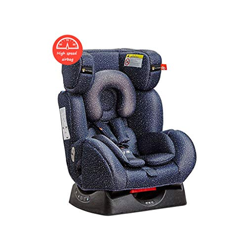 Seat Reclining Car Booster (Car Seats Child Safety seat car Baby Safety Chair high Speed airbag Safety seat 0-7 Year Old Reclining seat Motor Vehicle Child Occupant seat Belt (Color : Blue-B, Size : 53.549.570.5cm))