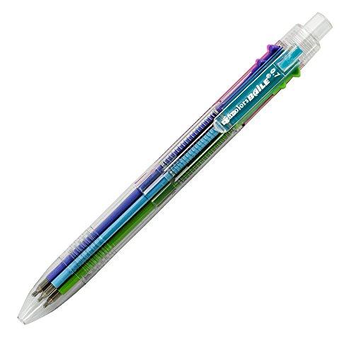 Baile Grip 6 in 1 , 6 Color 0.7 mm Ballpoint Multi Pen, Semi-Gel(OBG) pen by Baile