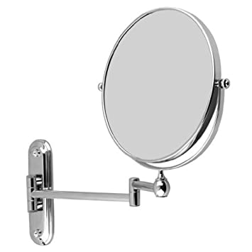 ANTI TRIPLE 8 Inches Double-sided Wall Mount Makeup Shaving Bathroom Mirror 5x Magnification