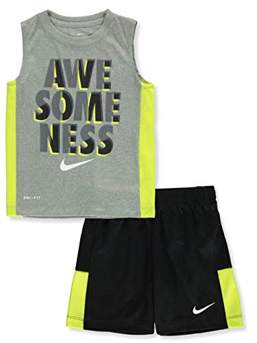 Nike Boys' 2-Piece Shorts Set Outfit - Black/Gray, 7