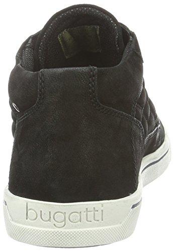 Bugatti K12325g, Zapatillas Altas para Hombre Negro (schwarz 100Schwarz 100)