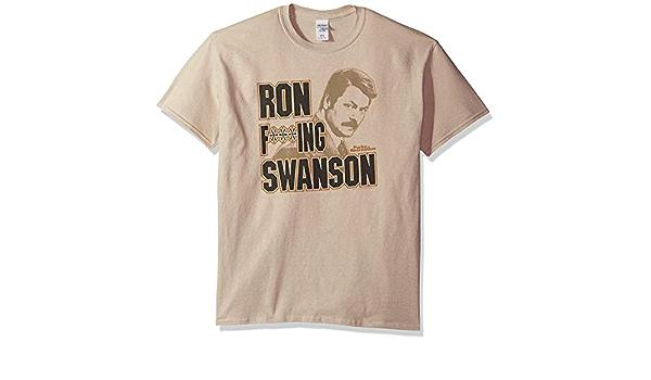 Parks & Recreation Ron F***ing Swanson Camiseta: Amazon.es ...