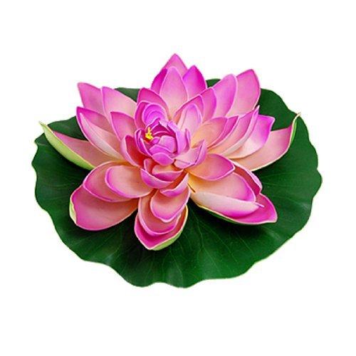 eDealMax Jardin Aquarium Poissons Aménagement paysager Réservoir Vert Feuille Rose Fleur de Lotus Décor