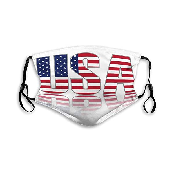 Flag Print Mouth Cover for Travel