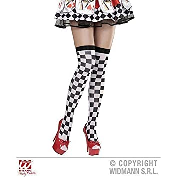 Over knee/calcetines hasta la rodilla con patrón de tablero de ajedrez: Amazon.es: Juguetes y juegos
