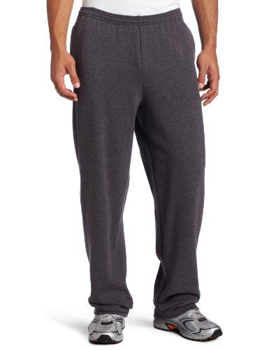 Athletic Heavyweight Sweatpants (Champion Men's Open Bottom Eco Fleece Sweatpant, Granite Heather, Large)