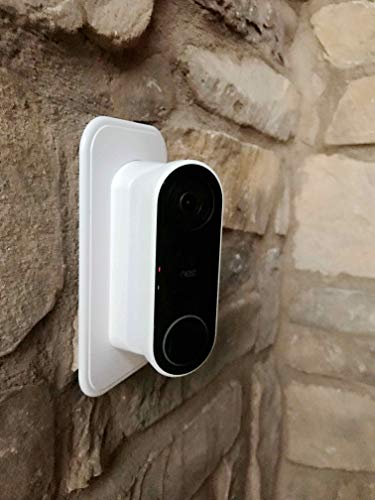 - Ade Advanced Optics Wall Plate and 30 Degree Angled Mount Combo for Nest Hello - White