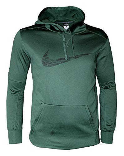 NIKE Men's Therma FIT Pullover Hoodie,Forest Green/Black,XX-Large