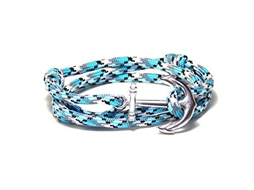 Anchor Bracelet Nautical Antidote Paracord Silver Tone Anchor Men Women's Adjustable