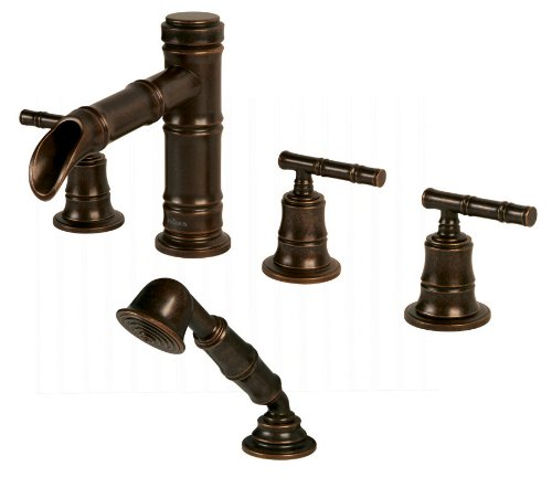 (Pegasus 879-0096 Bamboo Series Roman Tub Faucet with Hand Shower, Heritage Bronze )