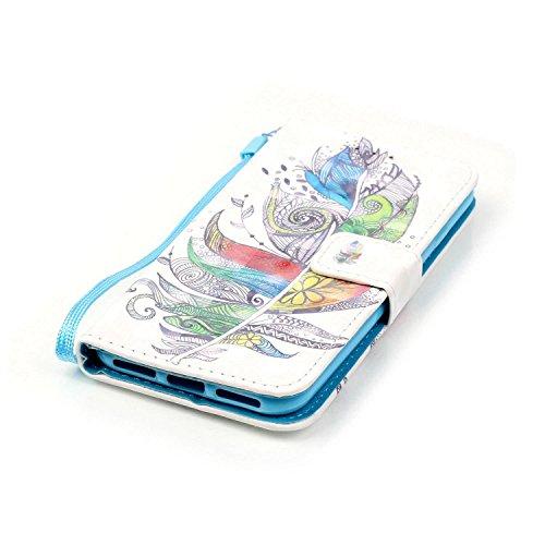 iPhone 7 Hülle,iPhone 7 Case,iPhone 7 Cover,Schutzhülle für iPhone 7 Leder Wallet Tasche Brieftasche,EMAXELERS iPhone 7 Leder Hülle,iPhone 7 Mädchen Hülle,iPhone 7 4.7 Zoll Painting Niedlich Rosa Bear E Bear 5