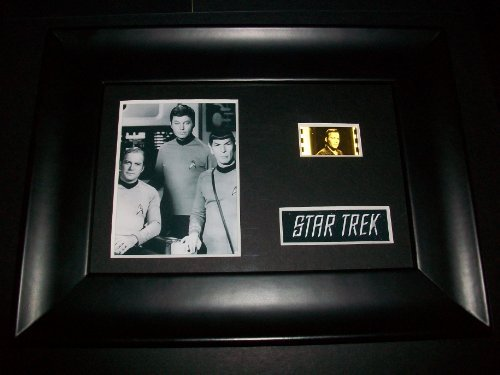STAR TREK black white tv series Framed Movie Film Cell Display Collectible