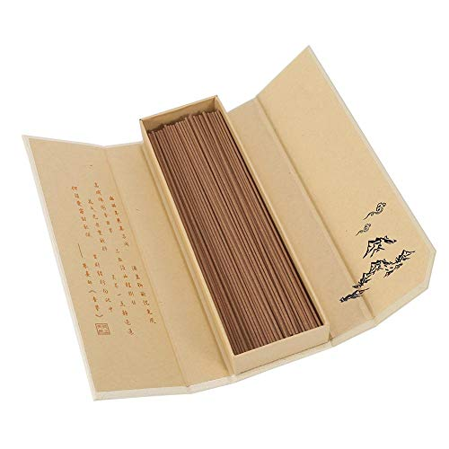 Price comparison product image Zerodis 180pcs / pack Natural Sandalwood Incense Buddhist Aroma Non-Toxic Incense Sticks for Household SPA Bathroom Office (Australian Sandalwood)
