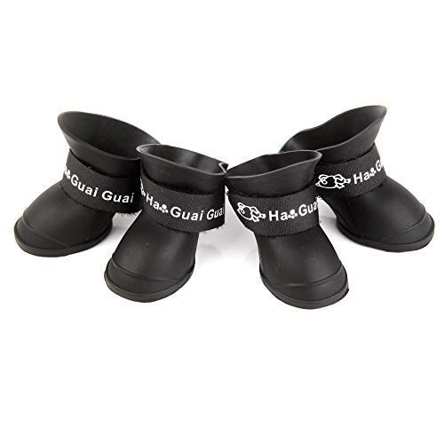 Pesp Cute Little Pet Dog Puppy Rain Snow Boots Shoes Booties Candy Colors Rubber Waterproof Anti-Slip