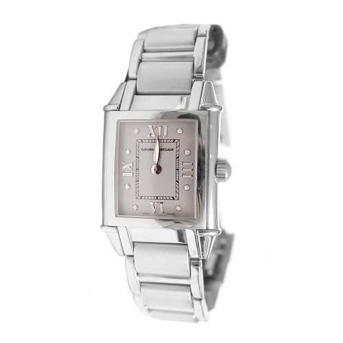 Perregaux Vintage Watch Wrist Girard - Girard Perregaux Vintage 1945 Lady Souveraine 25740-1-11-21M 26mm Automatic Silver Steel Bracelet & Case Anti-Reflective Sapphire Women's Watch